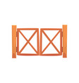 wooden farm gates from crossed planking cartoon vector image