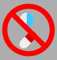 ban tablet icon flat vector image
