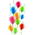birthday or party balloons and ribbons vector image