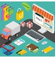 concept of online shop in flat design vector image