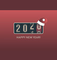 2020 new year analog counter display vector image vector image