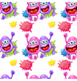 A seamless template with monsters vector image vector image