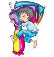 A young boy sleeping soundly vector image vector image