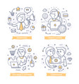 affiliate marketing doodle vector image