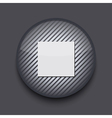 app circle striped icon on gray background Eps10 vector image