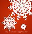 Applique snowflakes Christmas card vector image