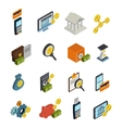 Atm Isometric Icon Set vector image