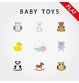 Baby toys Cute little animals vector image