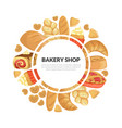 bakery shop banner template with fresh baking vector image vector image