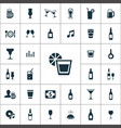 bar icons universal set for web and ui vector image