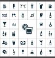 bar icons universal set for web and ui vector image