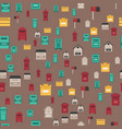 beautiful rural curbside seamless pattern postal vector image