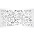 Business doodles Sketch set infographics elements vector image vector image