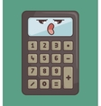 calculator funny character isolated icon design vector image vector image