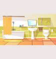 cartoon bathroom interior background
