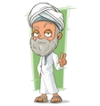 Cartoon old arabian man with beard vector image vector image