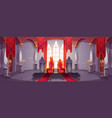 castle hall with thrones for king and queen vector image