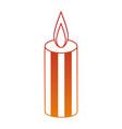celebration candle isolated icon vector image