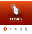 Celsius icon in different style vector image vector image