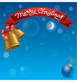 christmas background and celebration banner vector image