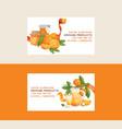 citrus fresh orange fruit business card vector image vector image