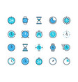clock and time icons watch calendar alarm and vector image