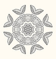decorative mandala vector image vector image