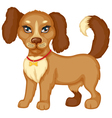 dog stands vector image vector image