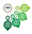 eco business presentation concept 4 parts vector image