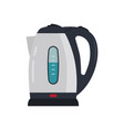 electric kettle isolated on white background vector image vector image