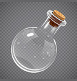 empty glass bottle elixir potion or chemistry vector image vector image