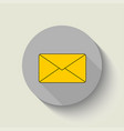 envelope - icon envelope yellow flat design vector image vector image