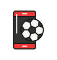 football mobile application icon soccer smart vector image