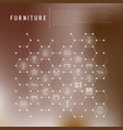 furniture concept in honeycombs vector image