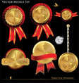 Gold medals set vector | Price: 1 Credit (USD $1)