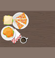 hamburger sandwich pepperoni pizza and coffee vector image