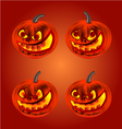 Happy Halloween set merry pumpkin vector image vector image
