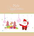 Hello Christmas vector image vector image