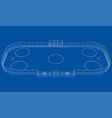 ice hockey area outline vector image