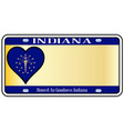 indiana state license plate vector image vector image