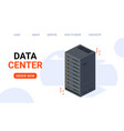Isometric data center technology server backup big