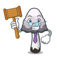 judge shaggy mane mushroom mascot cartoon vector image vector image