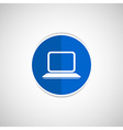 laptop icon network display white business blank vector image