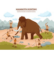 mammoth hunting background vector image vector image
