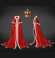medieval monarch royal garment realistic vector image vector image