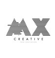 mx m x zebra letter logo design with black and vector image