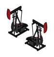 oil pump oil rig energy industrial machine for vector image