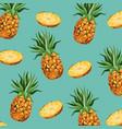 pineapple fruit fresh seamless pattern design vector image vector image