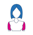 portrait woman character female people vector image