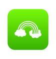 rainbow lgbt icon digital green vector image vector image